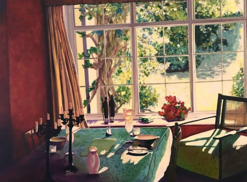 Paintings by Aarti Bartake seen at Private Residence, Shenton Park - Morning in Spring (sold)