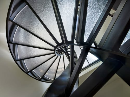 Sculptures by Amuneal seen at Private Residence, Malvern - Helical Stair