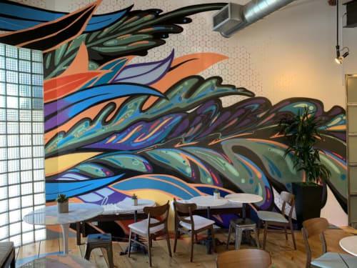 Murals by Grow Love (Robyn Frances) seen at Baker Technologies Inc, Denver - Baker Technologies Mural