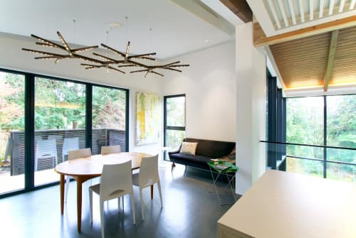 Chandeliers by Propellor Studio seen at Private Residence, North Vancouver - Myco 92x64 LED Light