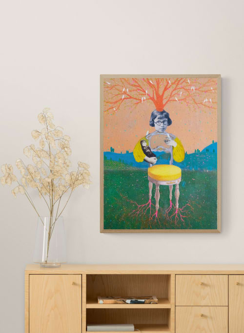 Paintings by Ayna Paisley seen at Creator's Studio, London - Nine Years of Silence