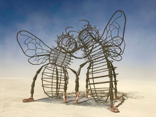 Public Sculptures by Andrea Greenlees seen at Nevada - Bee Dance
