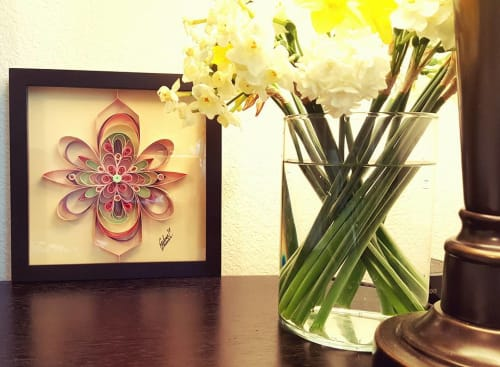 Wall Hangings by Zahra Ammar seen at Private Residence, Sacramento - Floral Art Design