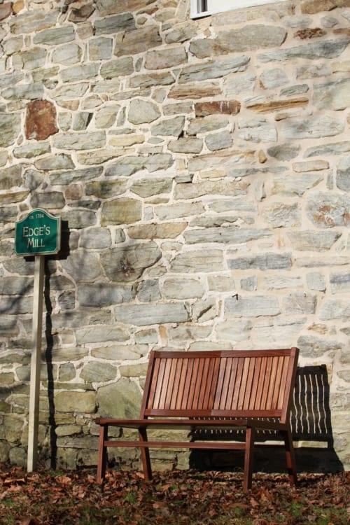 Benches & Ottomans by Miikana Woodworking at Miikana Woodworking, Downingtown - Slat Back Walnut Bench