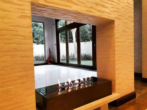 Fireplaces by GLAMMFIRE seen at Private Residence, Dubai - Crea7ion EVO 800