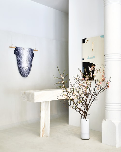 Art & Wall Decor by Cindy Hsu Zell seen at AYR SoHo, New York - Grey Color Study, Arc (Rope Sculpture)