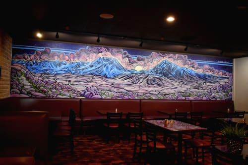 Murals by Alexandra Rubio seen at Back Alley, Bishop - Bishop - Eastern Sierras Mural