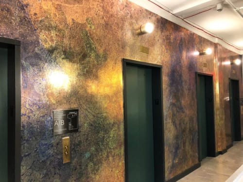 Murals by Wallpaper Projects seen at Fuigo, New York - Patina Study 1