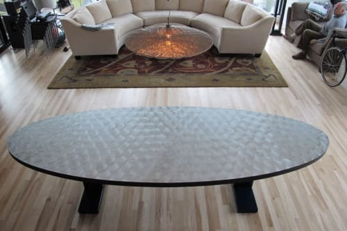 Tables by Willie Willette Works seen at Private Residence, Minneapolis - Zinc Dining Table