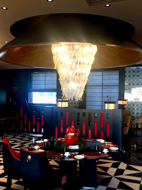 Lighting Design by Viroka Luce seen at Sheraton New Delhi Hotel, New Delhi - chinese restaurant at sheraton, new delhi