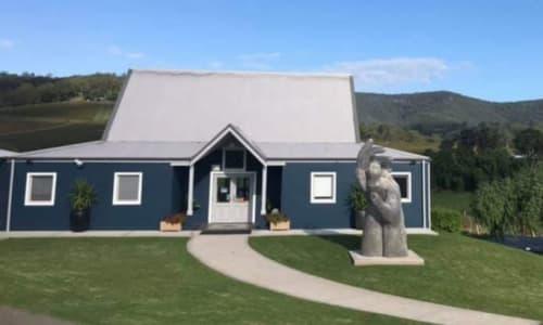 Sculptures by Mike Van Dam Art seen at Ivanhoe Wines Cellar Door, Pokolbin - These Hands