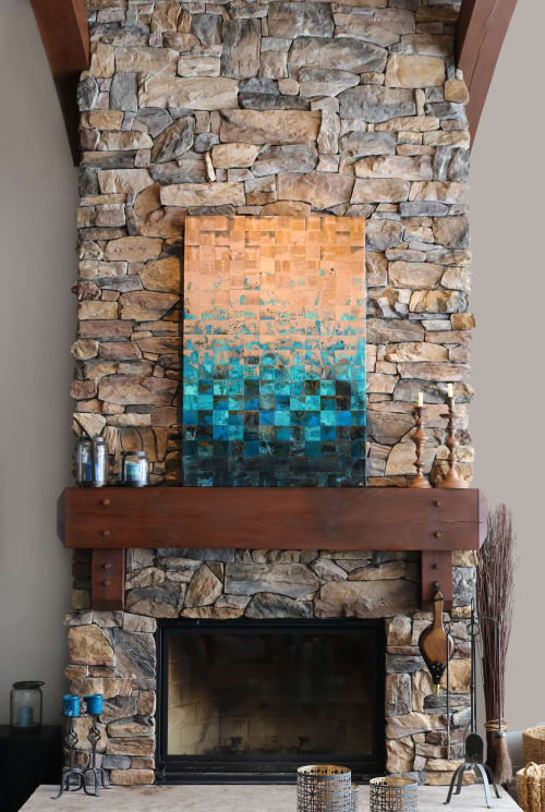 Wall Hangings by Adam Colangelo - Copper Art seen at Private Residence, The Blue Mountains - Blue Georgian