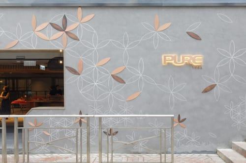 Street Murals by Urbanheart seen at Pure Yoga Starstreet Precinct - Flower of Life Mural
