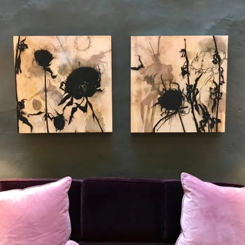 Paintings by Suzi Davidoff seen at The Eliza Jane New Orleans, New Orleans - Madera Canyon Cycle – Thistles 2 and 3