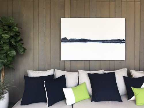 Paintings by Kimberly Tschida Petters seen at Private Residence, Edina - Untitled Indigo and White