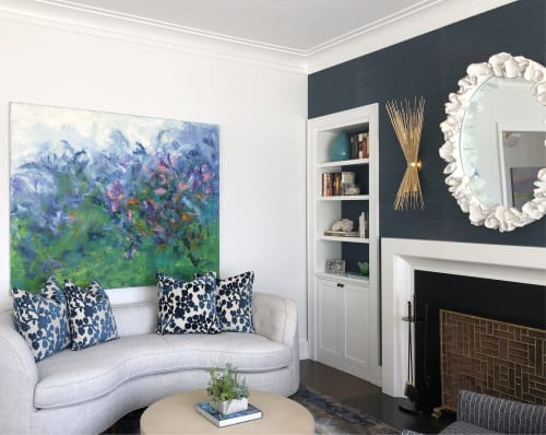 Paintings by Teodora Guererra Fine Art seen at Private Residence, Connecticut - Mom's Flower Garden
