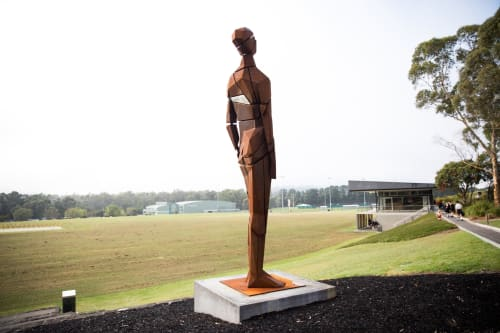 Sculptures by Damian Vick Studio seen at Yarra Valley Grammar, Ringwood - The Visionary