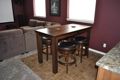 Tables by GlessBoards seen at Private Residence, Caledonia - Walnut Pub Table
