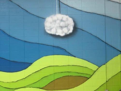 Street Murals by WilleyArt seen at Northside Elementary School, Sun Prairie - Nelly's Prairie