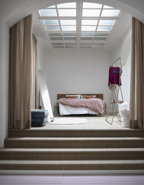 Interior Design by HKliving USA seen at Private Residence, New York - Bedroom with open wardrobe