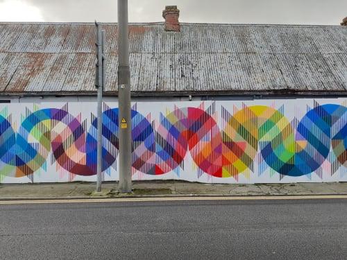 Murals by Paul Bokslag seen at Mill Street - Meander