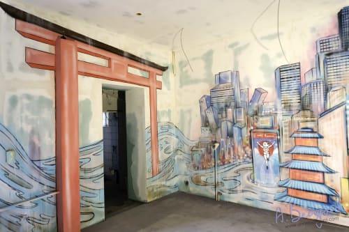 Murals by Anne Bengard seen at Hage Ramen, Berlin - Indoor Mural