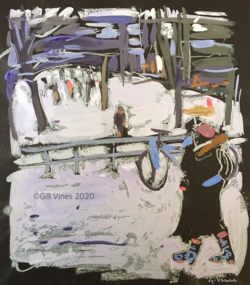 Paintings by Gill Vines Artist seen at New York University, New York - Snow Day