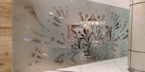 Murals by Urbanheart seen at Pure Yoga Suntec City, Singapore - Mandala Window Decal