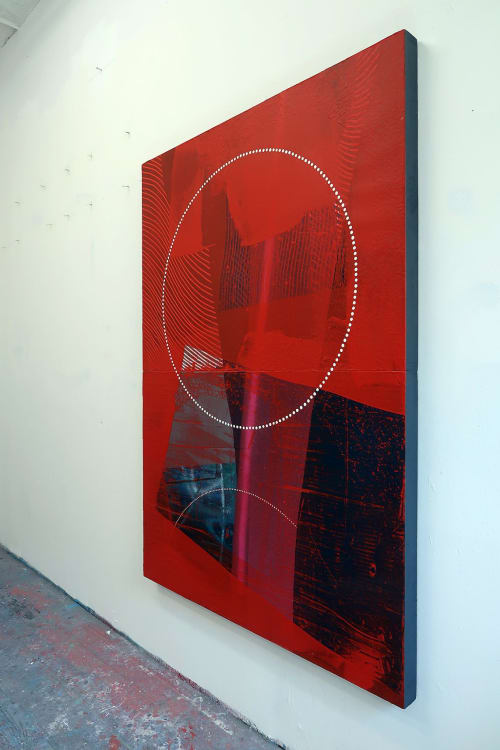 Paintings by Erik Otto seen at Center for Advancement of Contemporary Art, Brooklyn - Surface Tension