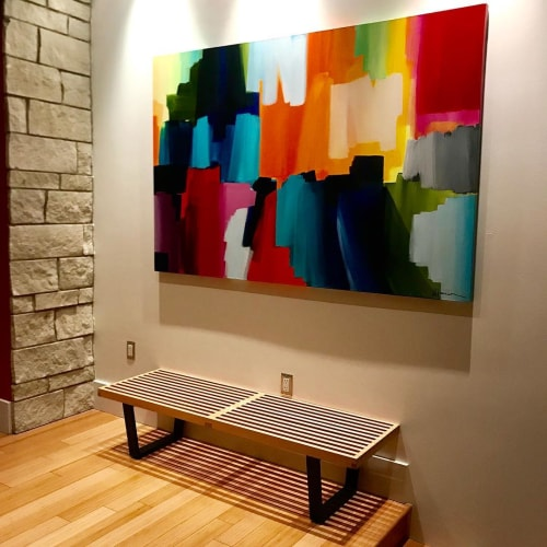 Paintings by Julie Hansen seen at Private Residence, Kansas City - Paint the Sky