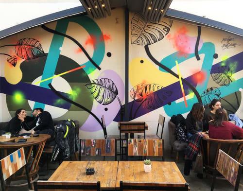 Murals by Mr. Hure seen at Lol Coffee Roasters - mural