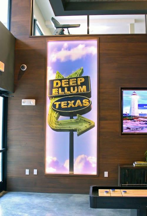 Murals by Organik Creative at Elan City Lights Apartments, Dallas - Deep Ellum Photo Murals