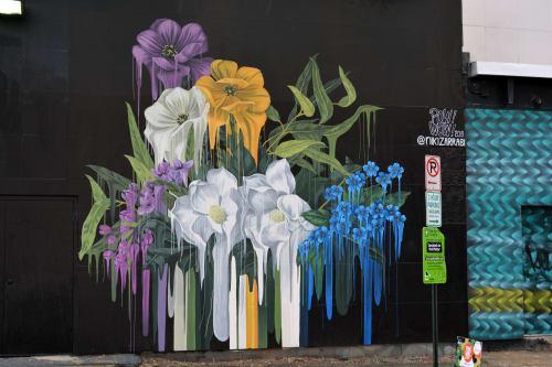 Murals by Niki Zarrabi seen at NoMa, Washington - POW!WOW! DC 2019 Mural