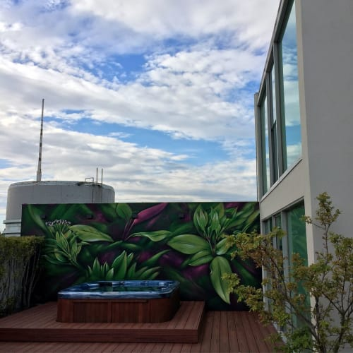 Murals by RESIO seen at Private Residence, Melbourne - Penthouse Mural