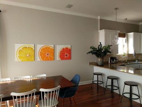 Paintings by Sarah E. Wain seen at Private Residence, Chicago - Grapefruit Slice
