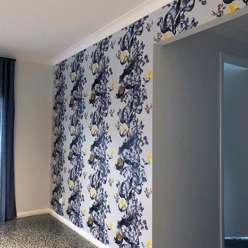 Wallpaper by Tamara Design Co seen at Private Residence, Melbourne - Underwater Wonderland