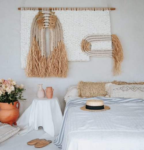 Macrame Wall Hanging by Ranran Design by Belen Senra seen at Private Residence, Los Angeles - Natrual Macrame Fiber Art