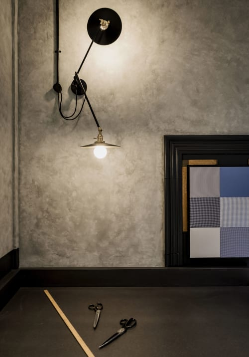 Interior Design by INK interior architects seen at Marbo Shirt, Sydney - Marbo Shirt Studio