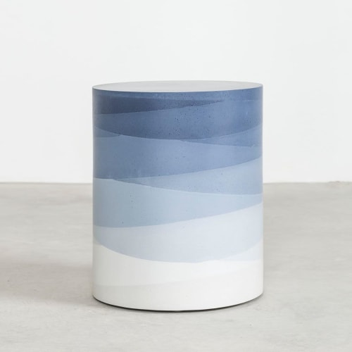 Tables by Fernando Mastrangelo seen at Private Residence, New York - Fade Drum Side Table