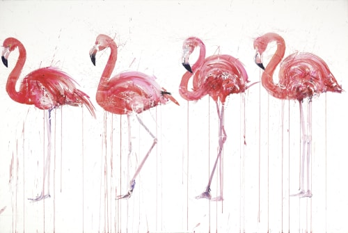 Paintings by Dave White seen at Private Residence - Flamingo Artwork