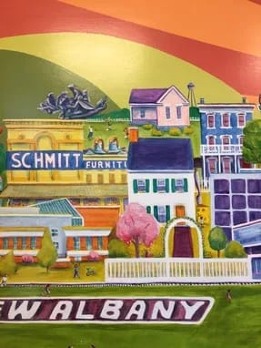 Murals by Liz Richter seen at Kroger, New Albany - New Albany Kroger Mural