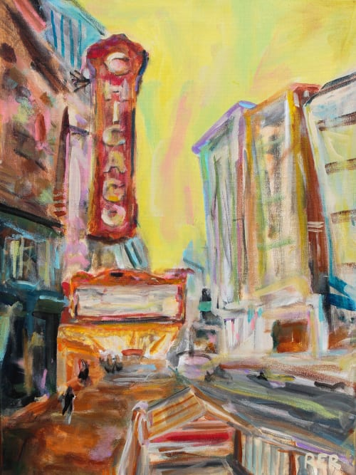 Paintings by Rachel Elizabeth Design seen at Private Residence, Chicago - Chicago Theater