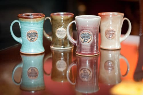 Tableware by Crazy Green Studios seen at Biltmore Village Inn, Asheville - Branded Mugs