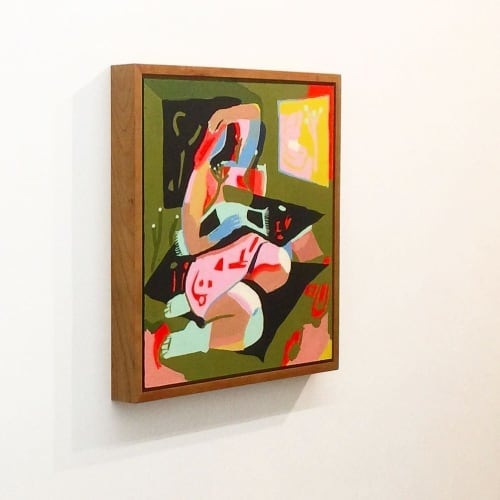 Paintings by Lena Gustafson seen at Park Life, San Francisco - Telescope for Eyes