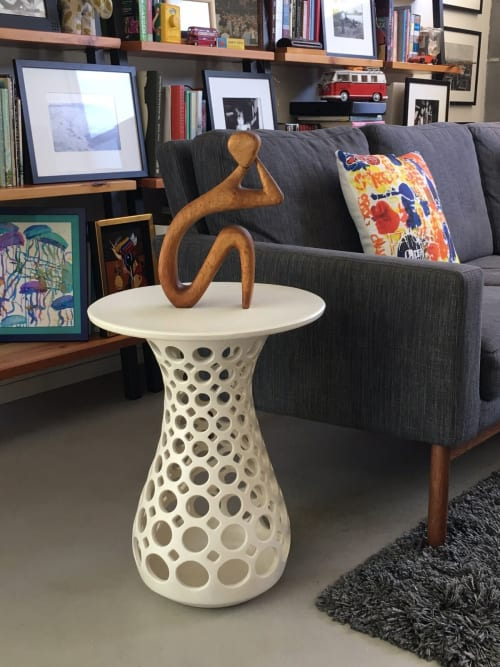 Tables by Lynne Meade seen at Private Residence, Palo Alto - Hourglass Openwork Table