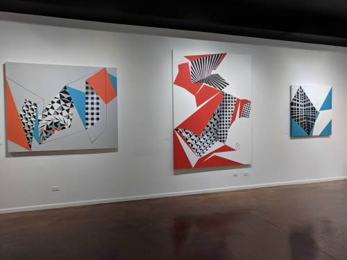 Paintings by Jane Barthès seen at Creator's Studio, Chicago - Molecular Ascension