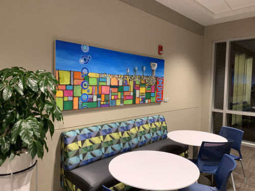 Paintings by Emily Williams-Wheeler seen at Fargo City Hall, Fargo - Watershed