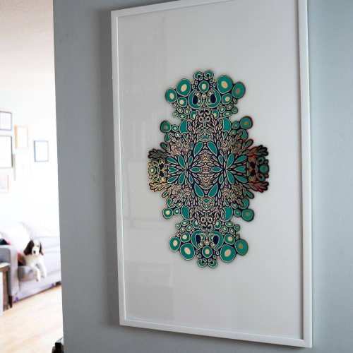 Paintings by Emily Carriere seen at Private Residence, Toronto - Growing Green & Gold