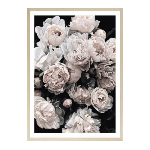 Paintings by The Print Emporium seen at Melbourne, Melbourne - Dark Blooms I Art Print