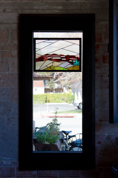 Sculptures by Brewer & Marr Glassworks seen at Topa Topa Brewing Co., Ventura - Ojai Panels